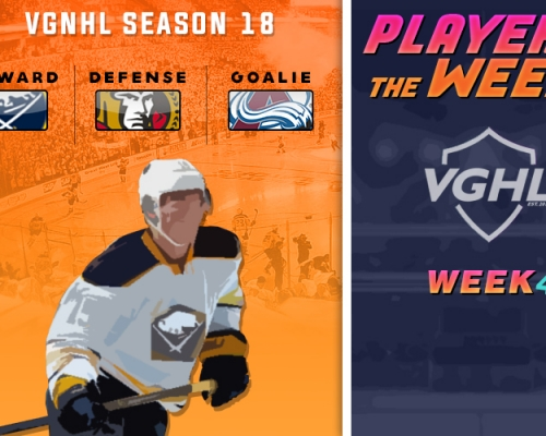 S18 VGNHL Players of the Week - Week 4