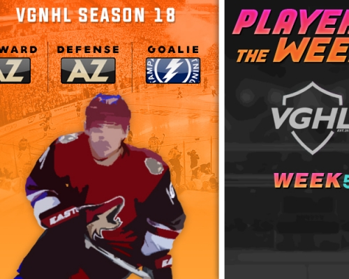 S18 VGNHL Players of the Week - Week 5
