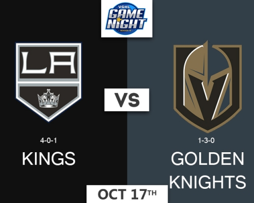 VGNHL Game Night: OCT 17th