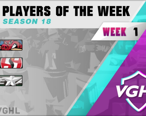 VGAHL S18 Players Of the Week 1