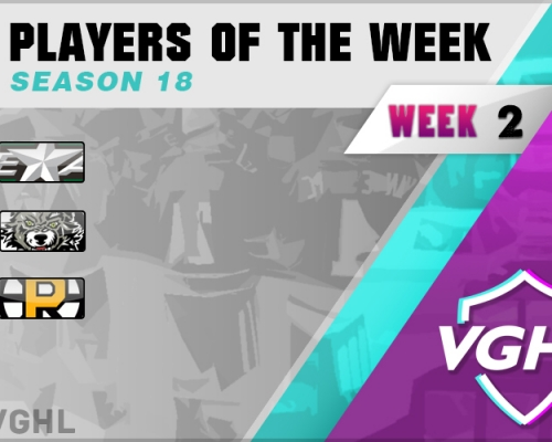 VGAHL S18 Players Of the Week 2