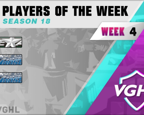 VGAHL S18 Players Of the Week 4