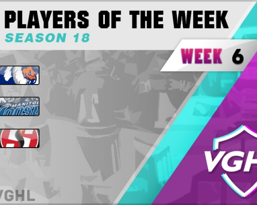 VGAHL S18 Players Of the Week 6