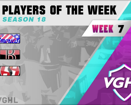 VGAHL S18 Players Of the Week 7