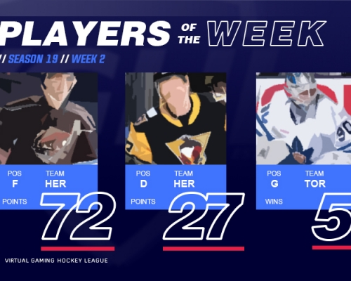 VGAHL S19 Players of the Week 2