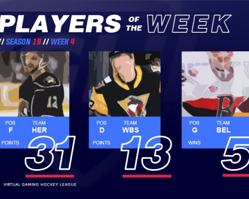 VGAHL S19 Players of the Week 4