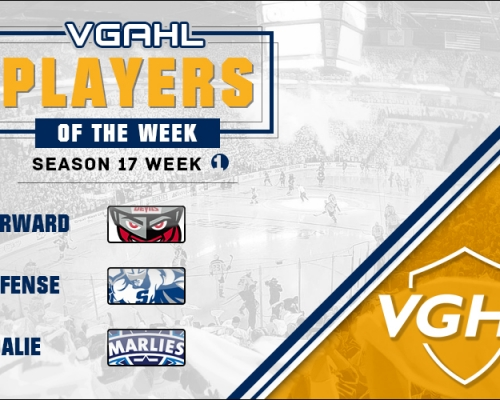 VGAHL S17 Players Of the Week 1