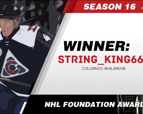 Season 16 NHL Foundation Player Award Winner