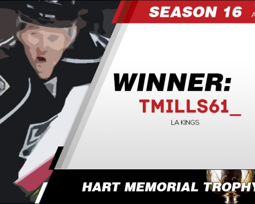 Season 16 Hart Memorial Trophy Winner