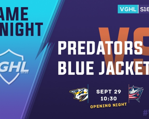 VGNHL Game Night: SEPT 29
