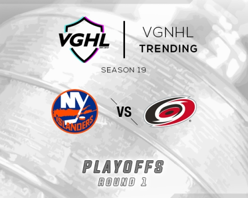 VGNHL Tending: S19 Playoffs NYI vs CAR