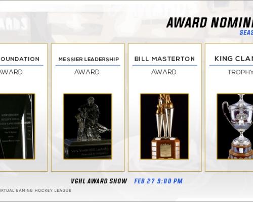 NHL Award Nominees pt 1