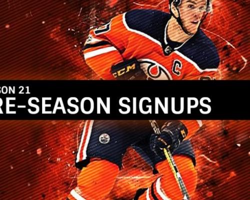 Season 21 Pre-season Sign Ups