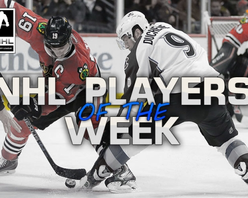 NHL Player Of The Week week 7