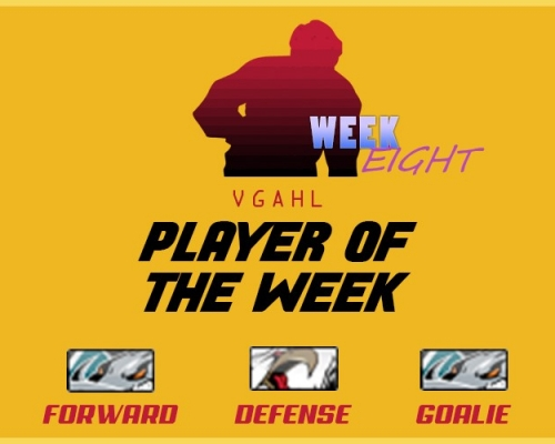 VGAHL Players of the Week - Week 8