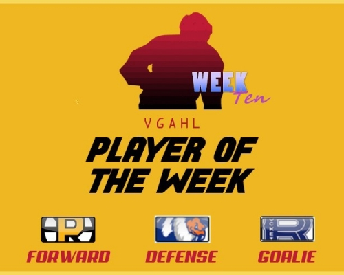 VGAHL Players of the Week - Week 10