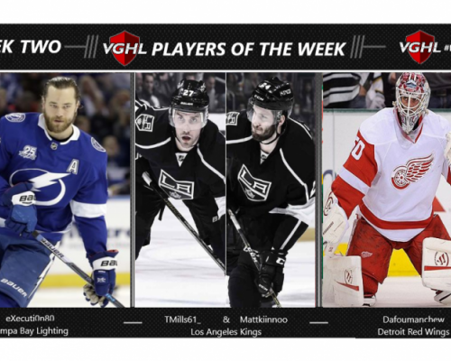 VGNHL Players of the Week - Week 2