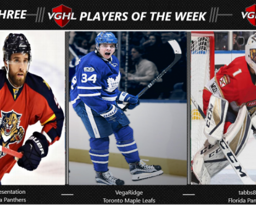 VGNHL Players of the Week - Week 3
