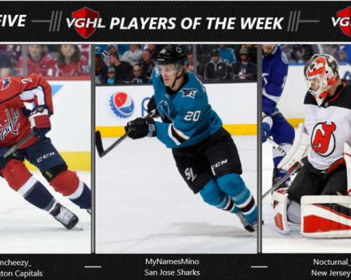 VGNHL Players of the Week - Week 5