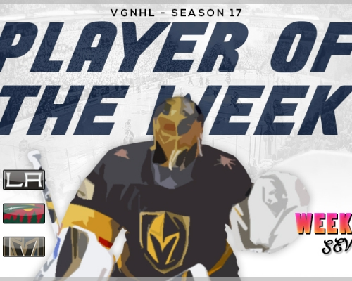 VGNHL Players of the Week - Week 7