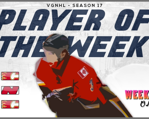 VGNHL Player of the Week - Week 1