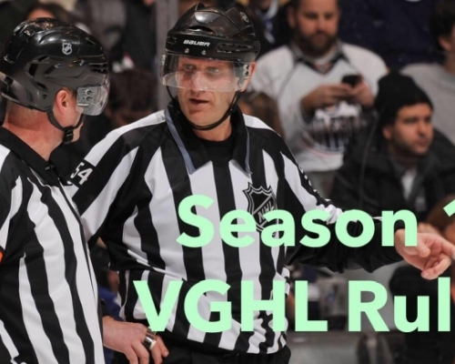 VGHL SEASON 16 RULE BOOK
