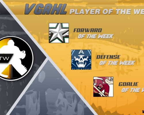 VGAHL PLAYERS OF THE WEEK 5
