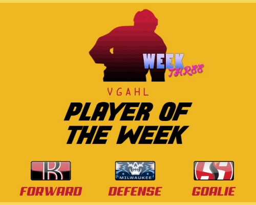 VGAHL Players of the Week 3