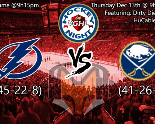 Hockey night in VGHL: Lightning VS Sabres