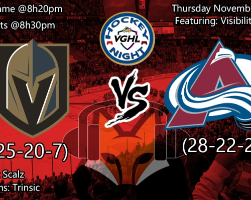 Hockey night in VGHL: Vegas Vs Colorado