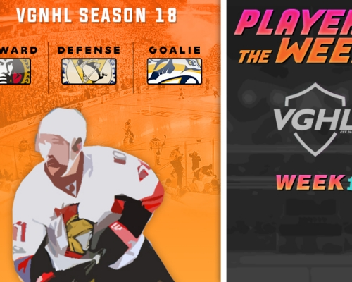 VGNHL Players of the Week - Week 1