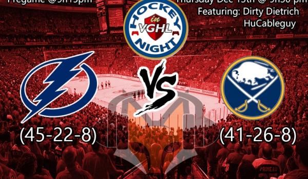 Hockey night in VGHL: Lightning VS Sabres